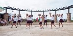 The Collier County Jr Drill team kicked off the Festival